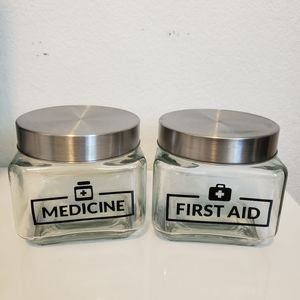 New First Aide decor jars